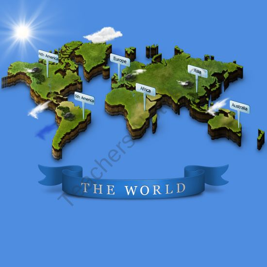 High-Impact Visual 3D World Map From Big Idea Learning On