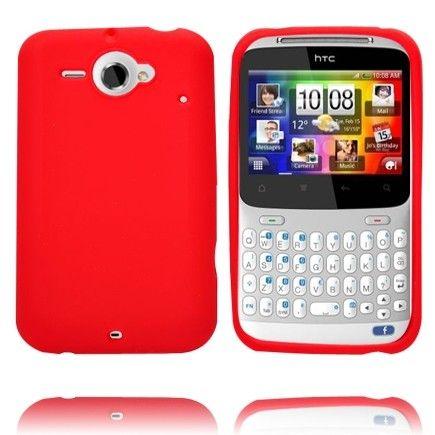 Soft Shell (Punainen) HTC ChaCha Silikonisuojusr
