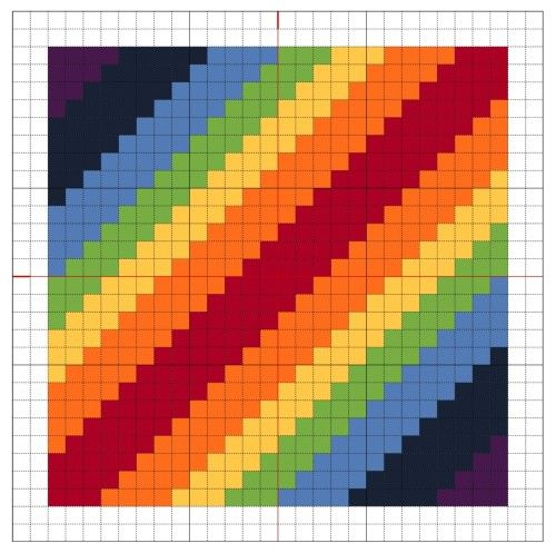 Cross Stitch: Rainbow Block 1 - The Crafty Mummy