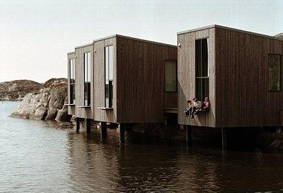 Artists´ studios at The Nordic Watercolour Museum at Skärshamn, Tjörn, Sweden.   Designed by danish architects Niels Bruun and Henrik Corfitsen
