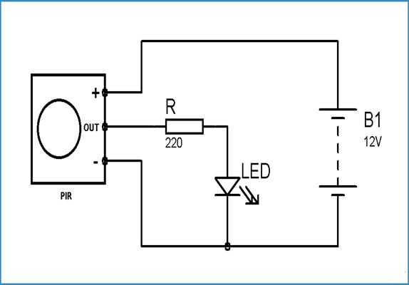 infrared detector cable wiring diagram