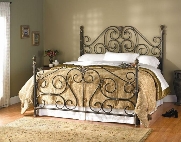 i want to find a wrought iron bed for my guest bedroom - Wrought Iron Bed Frame Queen