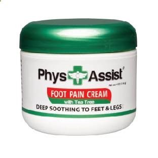A- PhysAssist Foot Pain Cream with Australian Tea Tree Oil. Ideal to ease Neuropathy Symptoms - PhysAssist Brands