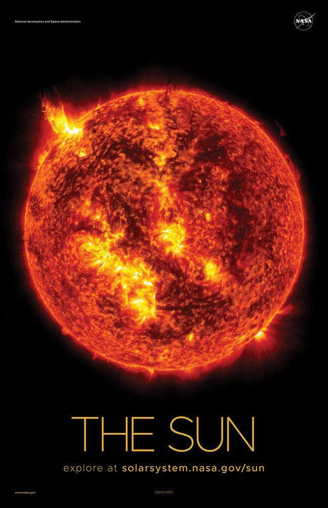 The Sun Poster Version A Nasa Solar System Nasa Sun Solar System Poster