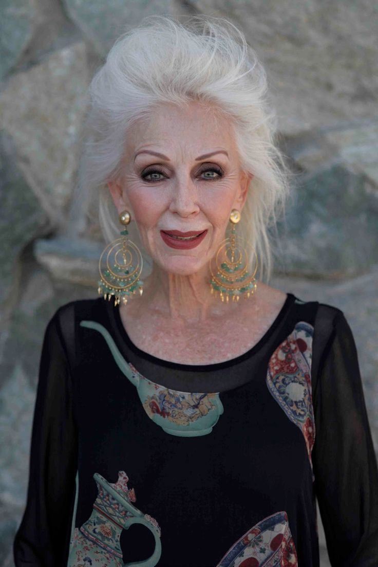 Pinner says: I'm pinning this to remind myself that beauty isn't just for the young. When I do get old, I'm going to wear makeup and jewelry and have big hair, and goshdarnit I'm going to wear a shirt with teapots on it if I want to. Age shouldn't mean letting go of looking good.