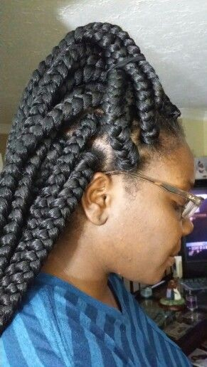 Poetic justice braids!!! Hair By Queen!!! | Big Box braids ...