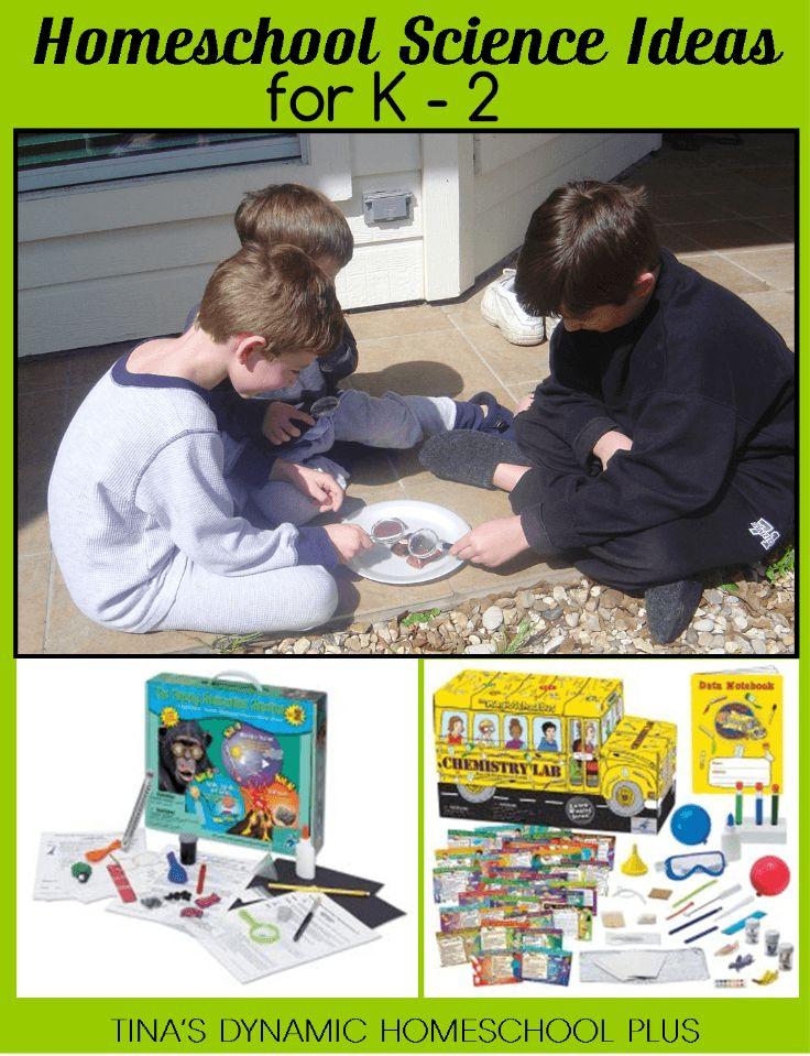 Homeschool Science Ideas for K – 2