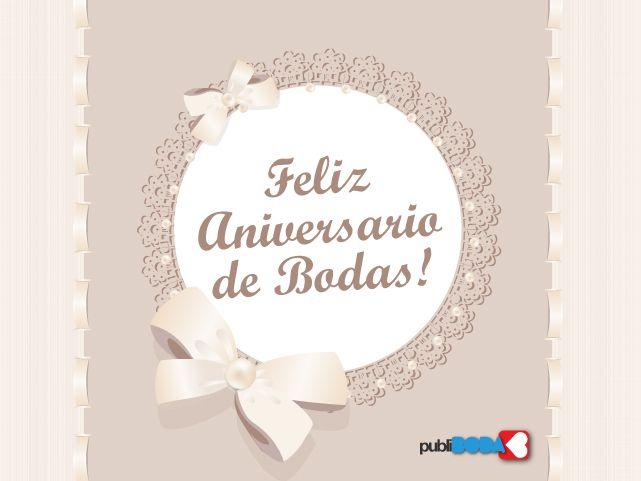 Mensagem De Aniversário Para: Tarjetas De Aniversario De Bodas