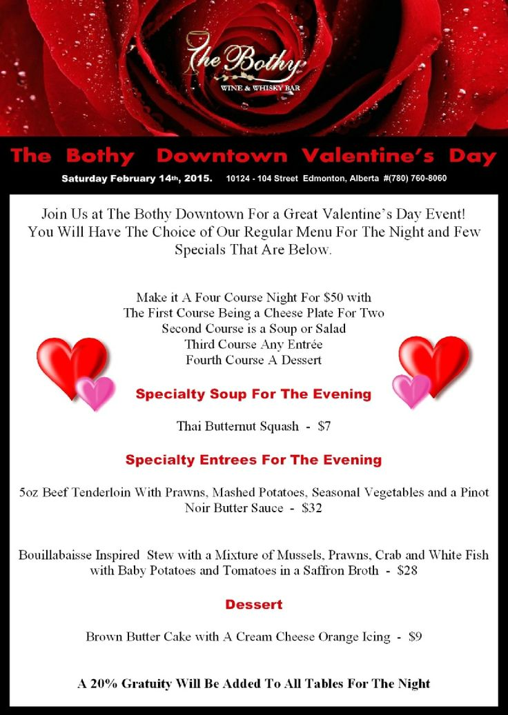 The Bothy Downtown's Valentine's Day Event