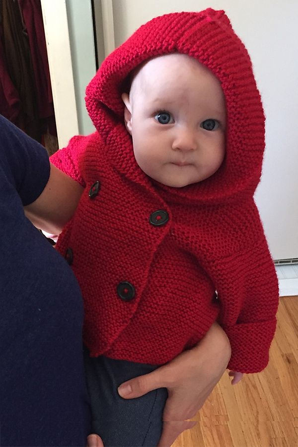 1f742d380903 Garter Stitch Hooded Jacket in Bernat Softee Baby Solids Free
