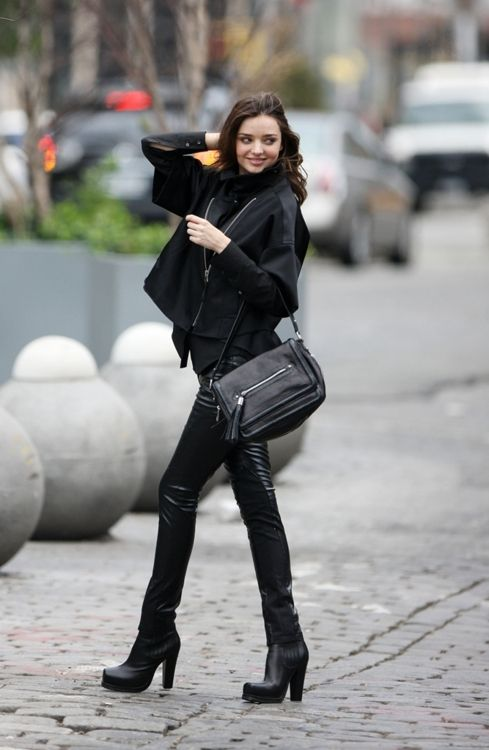 miranda. All black. perfection. obsessed with those boots. What brand are they??