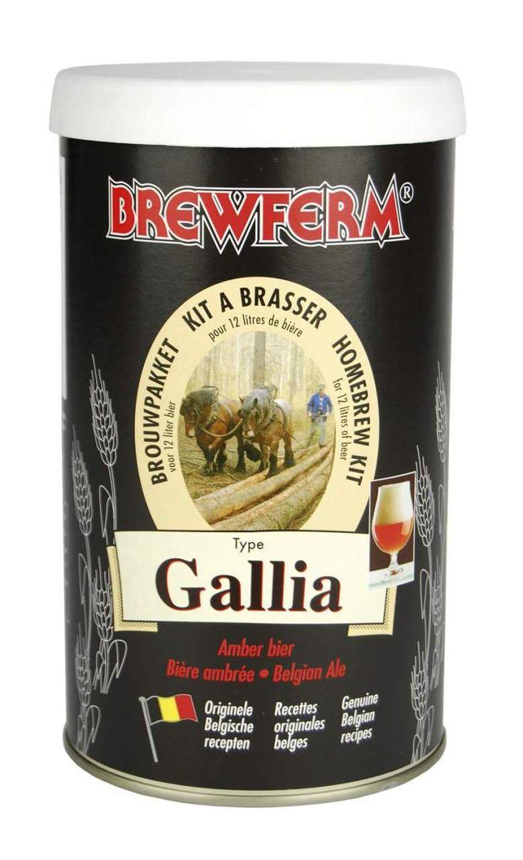 Brewferm Gallia (Galya)   Brewferm Gallia bira kiti arpa ve buğday maltı, yulaf taneleri ve tarife uygun şerbetçi otlarıyla hazırlanmış Ale tarzında bir Belçika birasıdır. Başlangıç yoğunluğu (OG) 1055 olan bu bira kitiyle mayalama sonrasında 12 litre % 5,5 alkol oranlı orta gövdeli ve yumuşak içimli , lezzetli bir bira elde edilir. #beer #brewferm #bira #Gallia