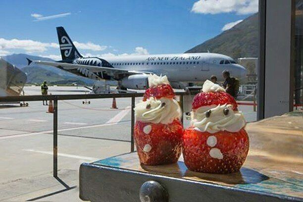 Look who just arrived at Queenstown airport!  I wonder if the elves are on overtime.  @crowneplazaqueenstown
