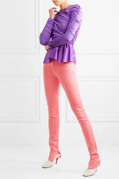 Balenciaga - Stretch-satin Skinny Pants - Pink - FR42