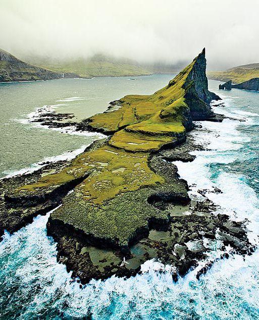Faroe Islands, between Norway and Iceland,.