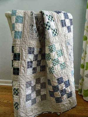 16 patch {a finished quilt} pretty color combination Simplicity is best! Love love love this!