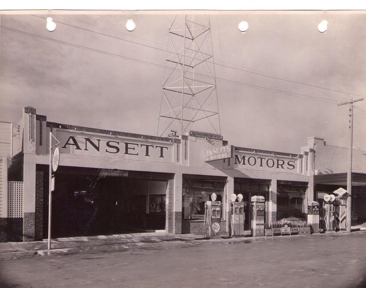 Early photo of Ansett Motors opened for business Feb 1935.