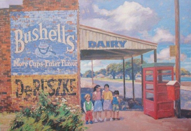 Check out The Bus Stop by Bill MacCormick at New Zealand Fine Prints