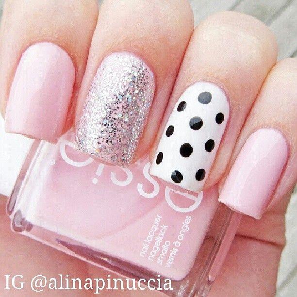 polka dot, accent nail