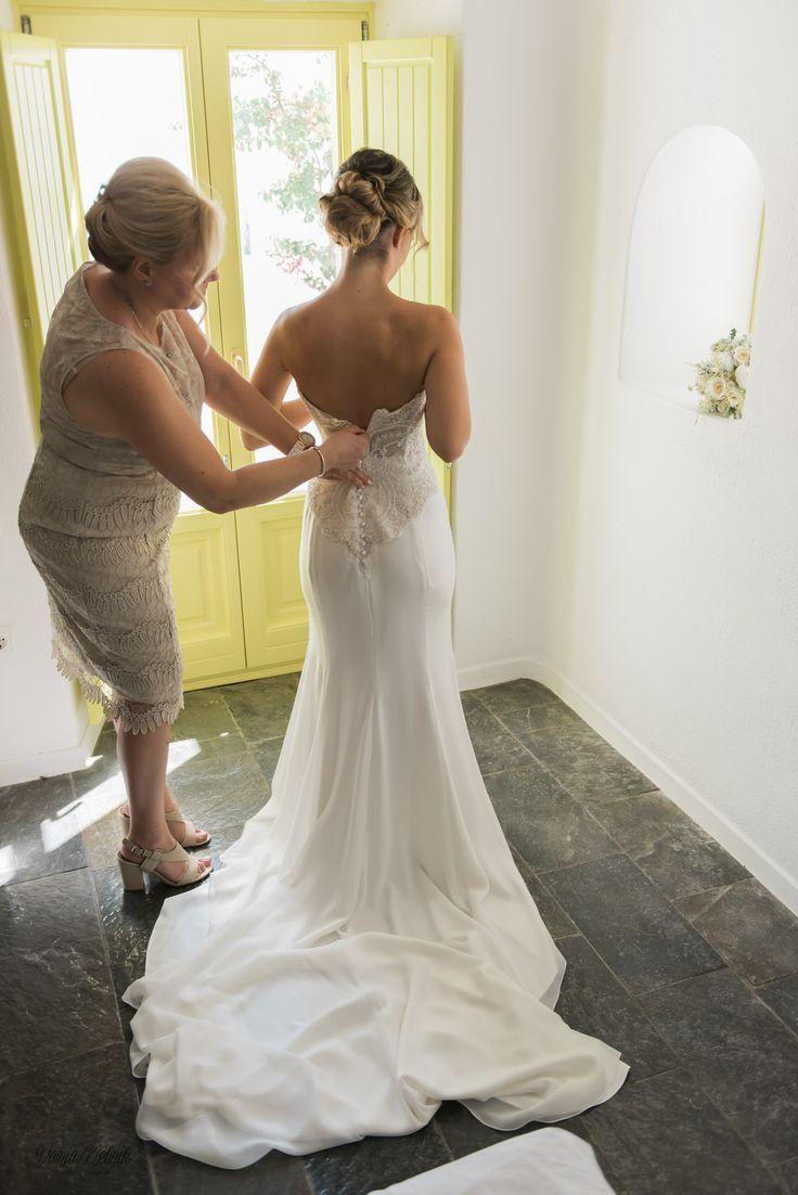 Preparations, Lace, Details, Bridal Wear, Beauty, Designer, Santorini Weddings