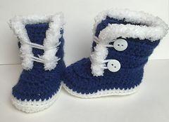 Fuzzy/ Fur Trim baby Boots FREE crochet pattern by Katerina Cohee (hva)