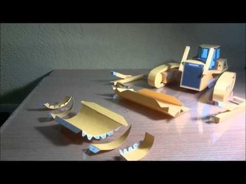 Komatsu Bulldozer Papercraft - Canon Creative Park - YouTube