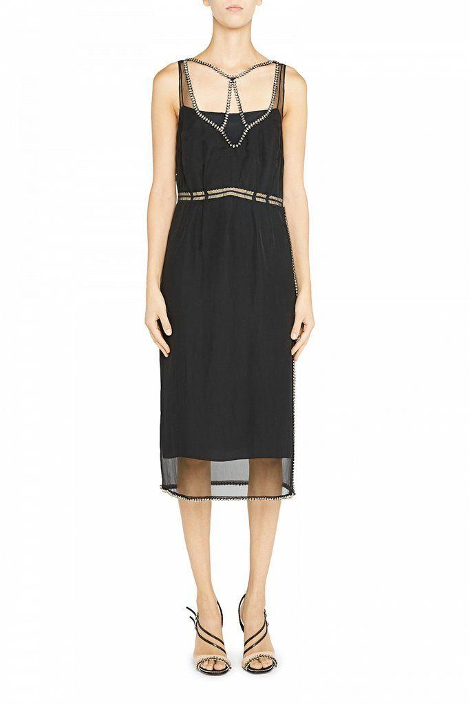 Dress Silk Rhinestone