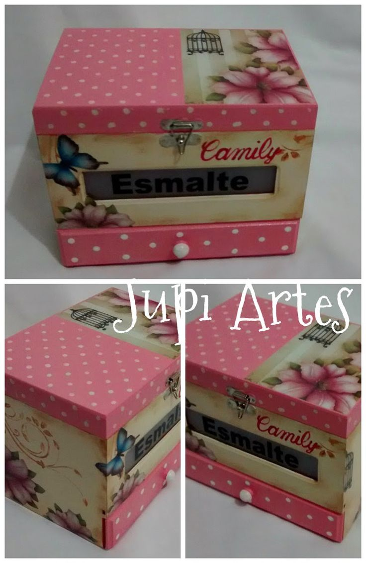 Jupi Artes: Caixa Porta Esmaltes