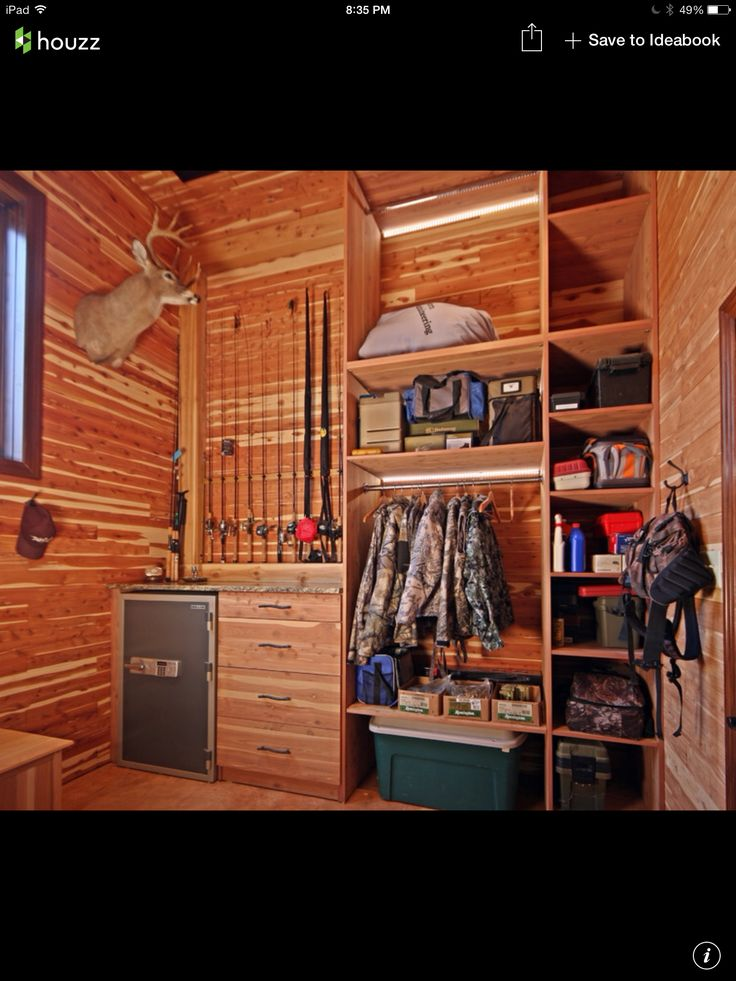 1000 Images About Hunting Room Storage On Pinterest