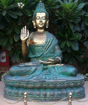 A large Buddha in Gurgaon, India.