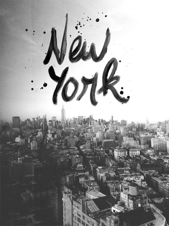 Nostalgie new-yorkaise à reproduire avec ses propres photos: tout simplement écrire le nom de l'endroit à la peinture dessus!