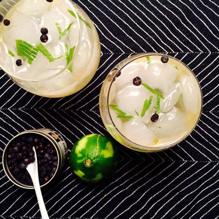 Gin & tonic med hjemmelaget sirup - green Bonanza