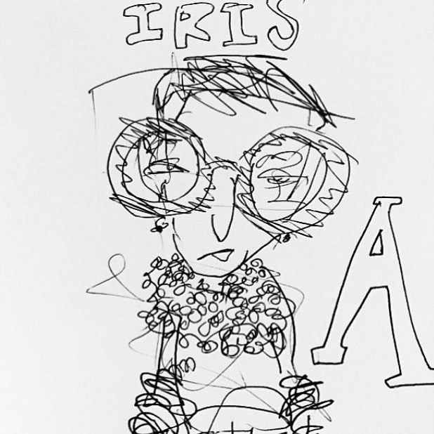 Best of 2015. We met on an elevator. She was adorned. @iris.apfel #irisapfel #iris #fashion #icon #illustration #accessories #doodle #latenight #design #nyc #newyorker #nyny #nyfw #lfw #pfw #frames #bracelets #necklace #portrait @bof @cfda by matthewlangille