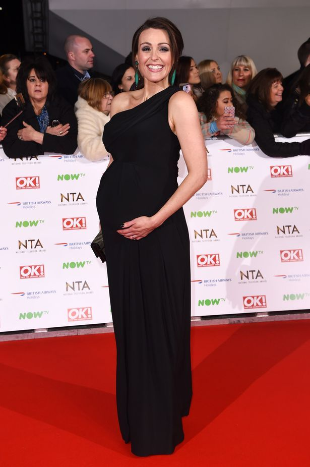 Suranne Jones debuts her bump at the National Television Awards