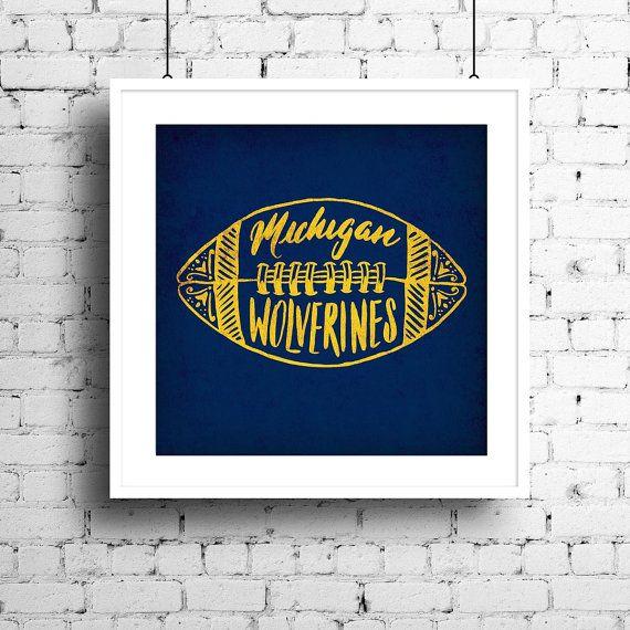 University of Michigan Wolverines Football Wall Art