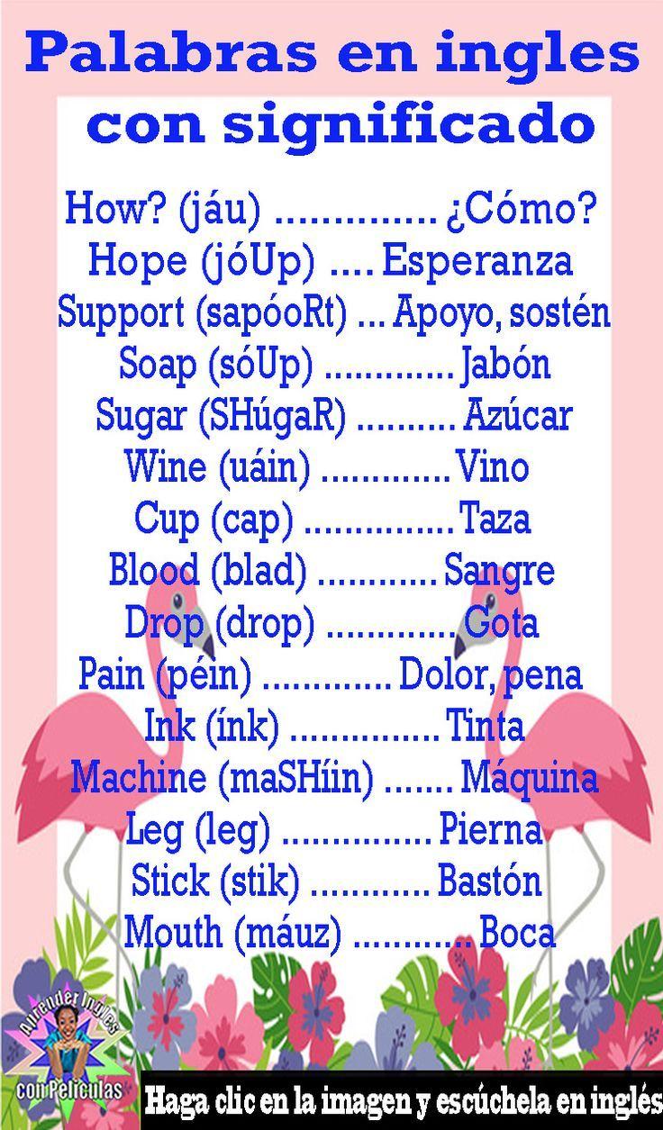 Palabras En Ingles Con Significado Aprende Ingles Pronunciacion Clases De Ingles Aprender Ingles Gr Como Aprender Ingles Basico Ingles Vocabulario En Ingles