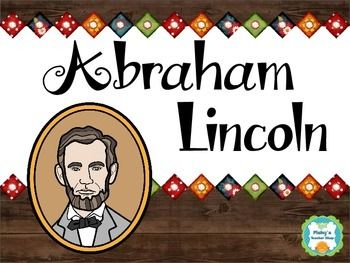 ABRAHAM LINCOLN - Abraham Lincoln Interactive Comprehension.Learn about Abraham Lincoln while practicing essential reading skills including main idea, context clues, vocabulary, and text features.Topics covered:* Abraham Lincoln's childhood* Abraham Lincoln as president* The Civil War* The End of Slavery* Remembering Abraham LincolnStudents will:* Read each page about Abraham Lincoln, using context clues to fill in the missing information. * Determine the main idea and choose the correct…