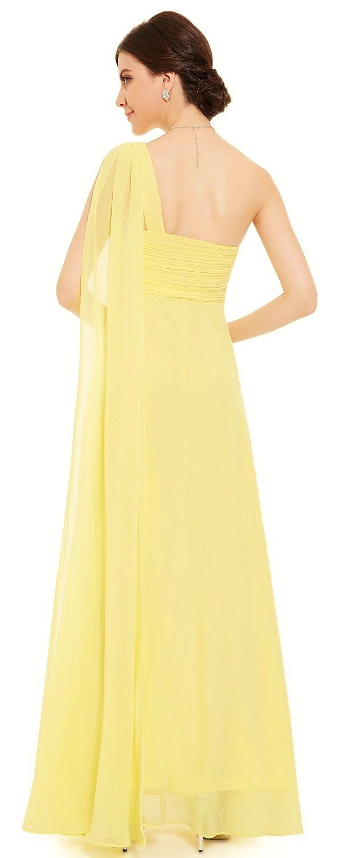 49 best lemon yellow bridesmaid dresses images on pinterest eve daffodil yellow lemon chiffon one shoulder bridesmaid dress eloises secret ombrellifo Image collections
