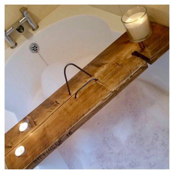 Rustic Bath Caddy Bath Shelf Wooden Bath Caddy Bath Tray Etsy Bath Tray Wooden Bath Rustic Bath