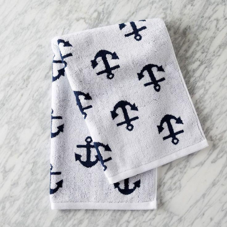 Anchor Jacquard Towel