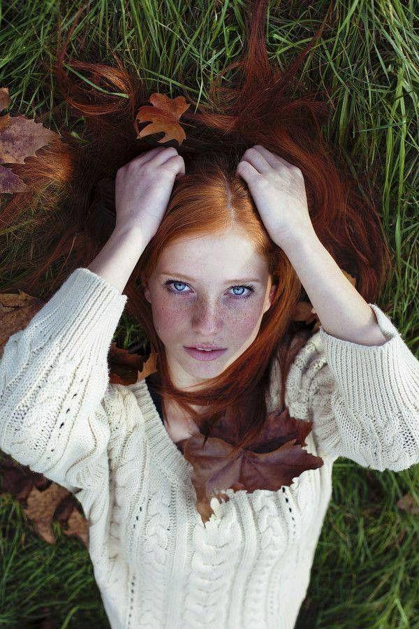 Red haired Celtic girl..The Beauty of the glen.