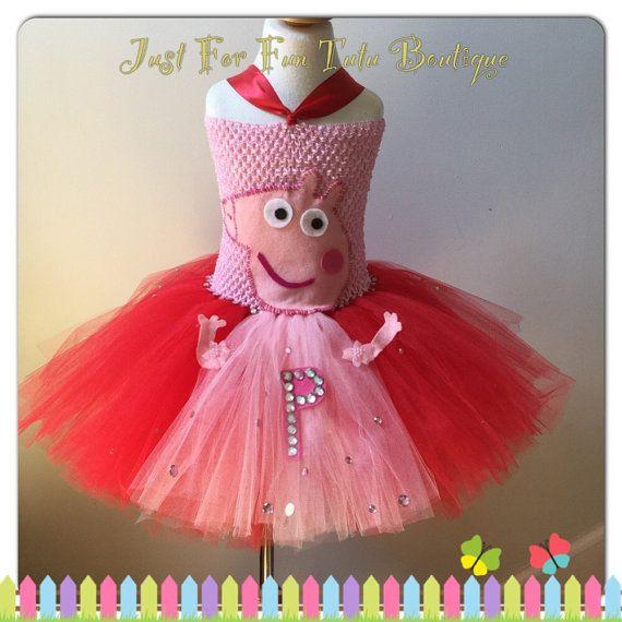 Peppa Pig Tutu Peppa Pig dress peppa pig tutu by Justforfuntutu