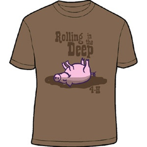 A whole different kind of rolling in the deep...  You can't go wrong with a good 4-H shirt. <34 H Malls, Things 4 H, Deep Hahaha, Kirsten Holt, 4H Ffa, Deep Repin By Pinterest, 4 H Shirts