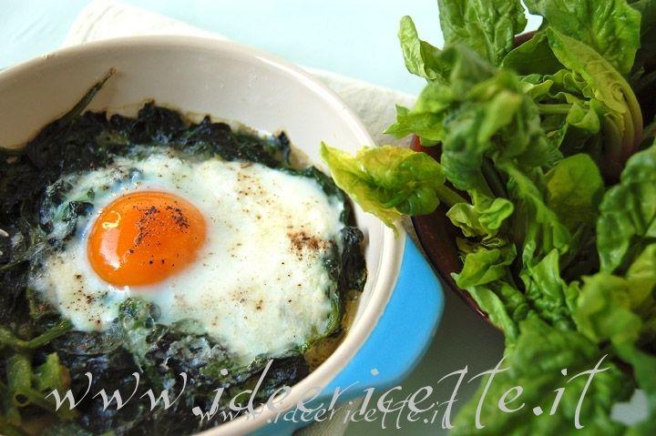 Ricetta Gratin di spinaci con uova e parmigiano