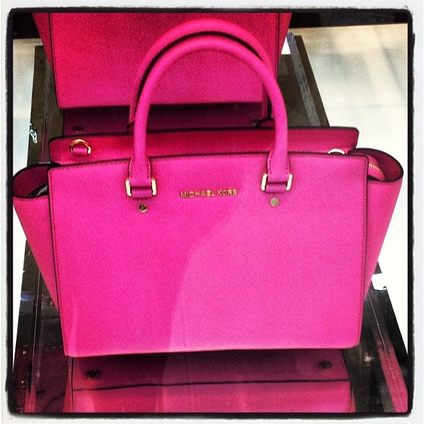 Hot Pink With Michael Dussert Kors On Regentstreet Perfect Colour For