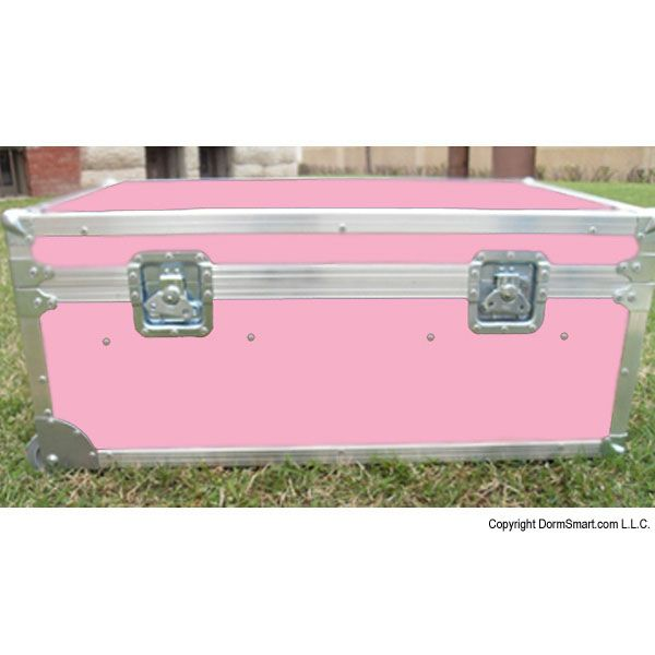 Safari Pink Large ATA College Footlocker with Recessed Wheels and Tray | FREE SHIPPING