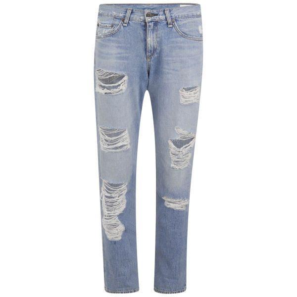 rag & bone Women's Boyfriend Jeans - Rebel Wash (232815 IQD) ❤ liked on Polyvore featuring jeans, pants, bottoms, pantalones, black, destroyed boyfriend jeans, boyfriend jeans, ripped jeans, torn boyfriend jeans and distressed jeans