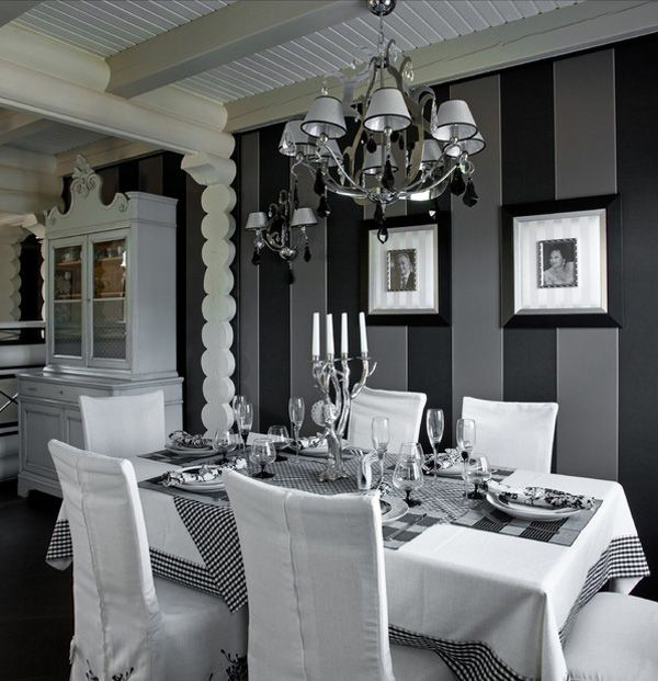 112 Best Black N White Images On Pinterest  Architecture Home Brilliant Black And Silver Dining Room Set Design Decoration
