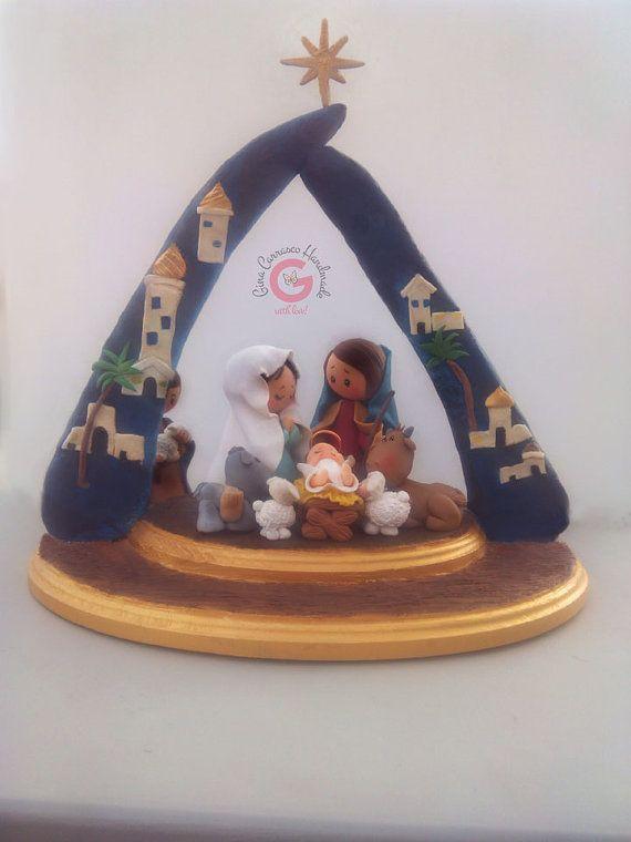 Handcrafted Christmas Nativity Set, Christmas Nativity, Holy Family Nativity, Baby Jesus, O Holy Night, Christmas decor, Christmas ornament