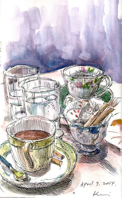 cake and sketch-4 by kumi matsukawa, via Flickr